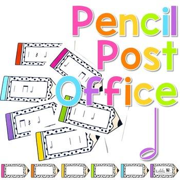 Pencil Post Office Rhythm Games: half note