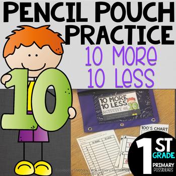 Pencil Pouch Practice { 10 More/10 Less }