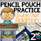 Pencil Pouch Practice {2 Digit Addition}