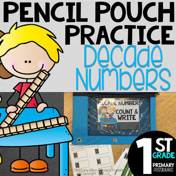 Pencil Pouch Practice { Decade Numbers }