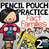 Pencil Pouch Practice {Fact Families}