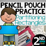 Pencil Pouch Practice {Partitioning Rectangles}