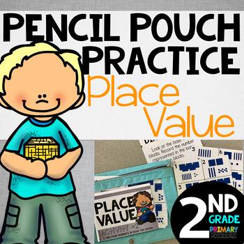 Pencil Pouch Practice {Place Value}