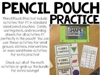 Pencil Pouch Practice { Shapes }