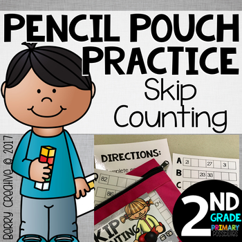 Pencil Pouch Practice {Skip Counting}