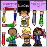 Pencil Power Clip Art Bundle {Educlips Clipart}