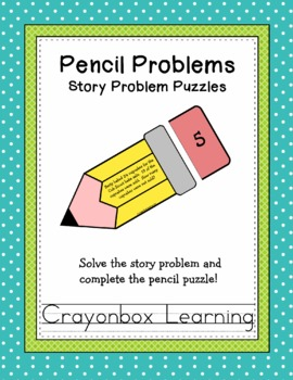 Math Story Problems Learning Center, Editable Templates, Learning Centers
