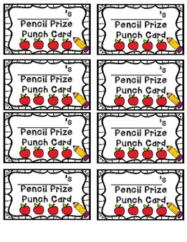 Pencil Punch Card