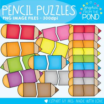 Pencil Puzzle Clipart
