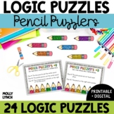 Pencil Puzzlers Logic Problem Solving {Logic Puzzles}