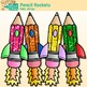 Pencil Rocket Clip Art {Back to School Graphics for Your Writing Checklist}