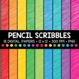 Pencil Scribble Digital Paper