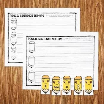 Pencil Sentence Center - First Quarter Smart Center