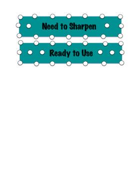 Pencil Sharpen Labels