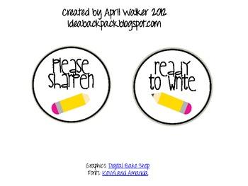 Pencil Sharpener Bucket labels - Free