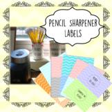 Pencil Sharpener Labels