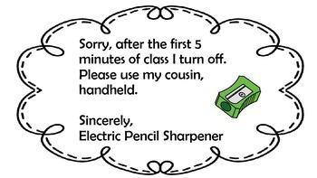 Pencil Sharpener Sign