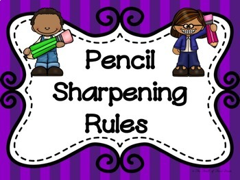 Pencil Sharpening Rules