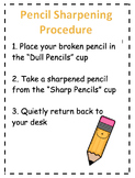 Pencil Sharpening Procedures