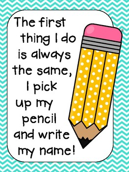 Pencil Sign: The First Thing I Do Is Always The Same...