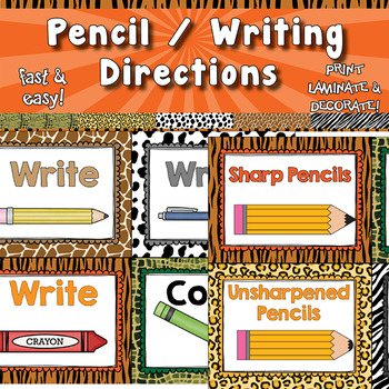Pencil Signs / Writing Directions  APT-001