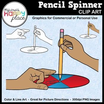 pencil spinner clip art by my happy place teachers pay teachers