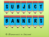 Pencil Subject Banners