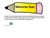 Pencil Subtraction Scoot or Scavenger Hunt