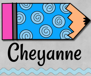 Pencil Tags for Organizing Cubbies, Name Tags and Coat Hooks
