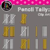 Pencil Tally Clip Art 1-10 (b&w included)
