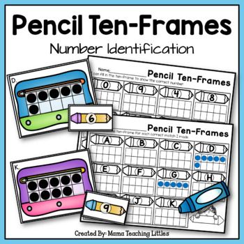 Pencil Ten-Frames - Number Identification