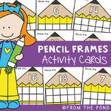 Pencil Ten and Twenty Frame Math Center Activities