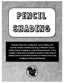 Pencil Texture and Form Shading Handout and Worksheets