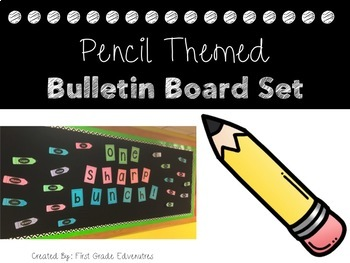 Pencil Theme Bulletin Board