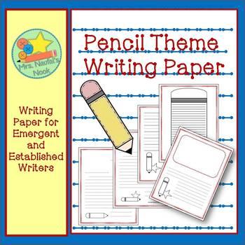 Writing Paper Templates - Pencil Theme