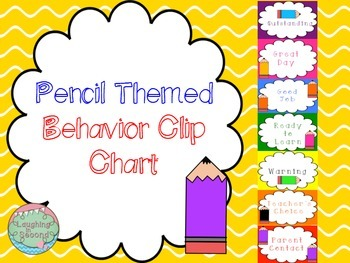 Pencil Themed Behavior Clip Chart