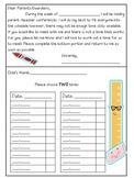 Pencil Themed Conference Forms