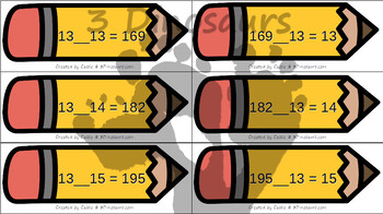 Pencil Themed Multiplication & Division Sorting