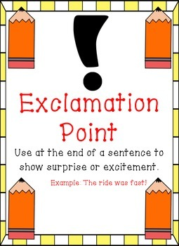Pencil Themed - Punctuation Posters
