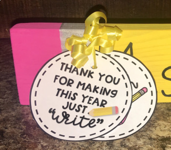 Pencil Themed | Teacher Appreciation | Gift Tag | FREEBIE