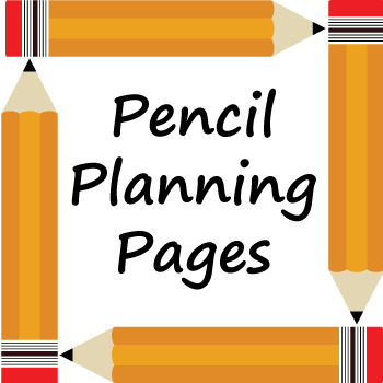 Pencil Themed Teacher Planning Pages