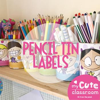Pencil Tin Labels