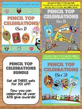 Owl Themed - Pencil Top Celebrations BUNDLE