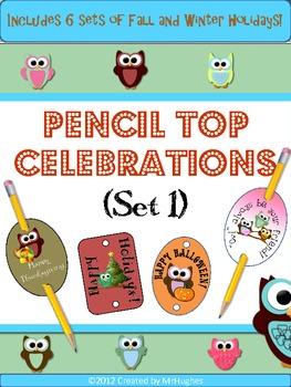 Pencil Top Celebrations (Owl Theme)- Set 1