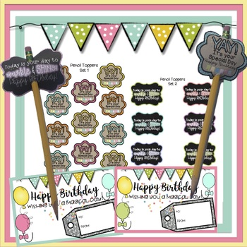 Pencil Topper Bundle (The Birthday Bucket Pencil Toppers + BTS Pencil Toppers)