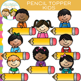 Pencil Topper Kids Clip Art