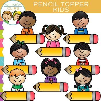 Pencil Topper Kids Clip Art