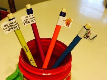 Pencil Toppers Dr. Seuss Motivational