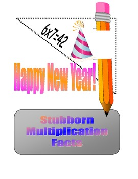 Pencil Toppers Stubborn Multiplication Facts