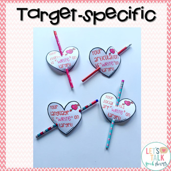Pencil Valentines for Speech Therapy